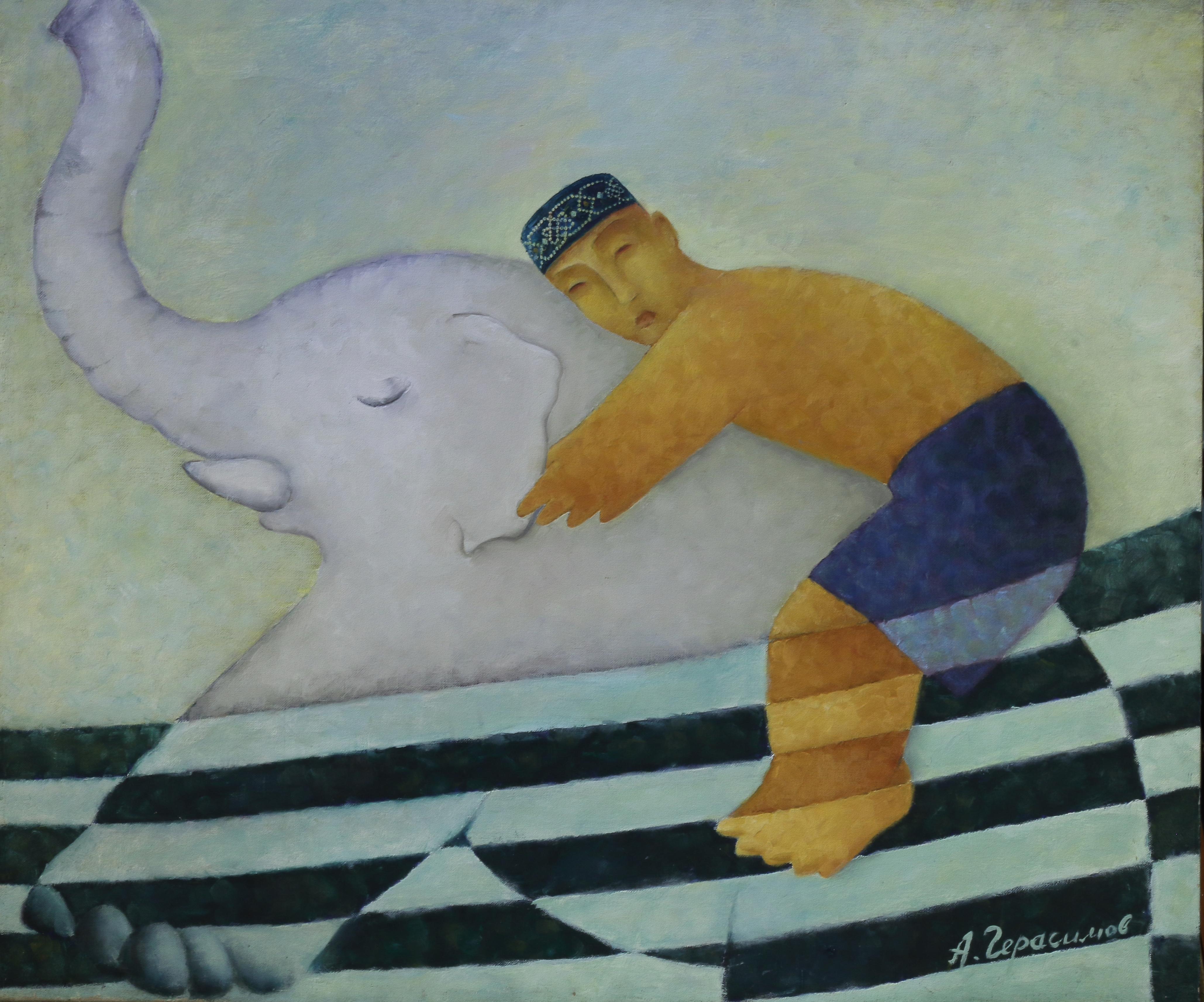 Герасимов Александр «Купание белого слона»